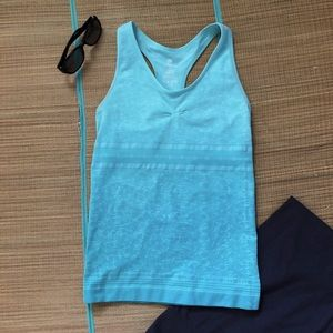 ClimaWear Seamless MintTeal Stretch Workout Tank